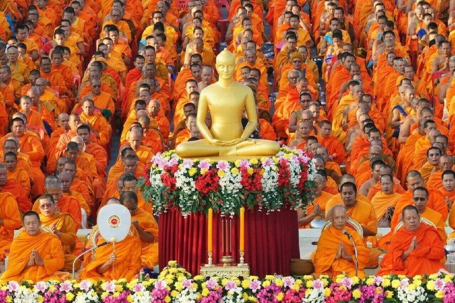 Đạo phật chiếm đa số dân Thái Lan