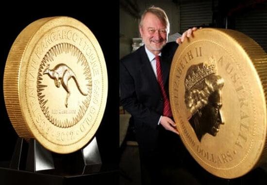 đồng tiền khổng lồ của Úc 1 tấn