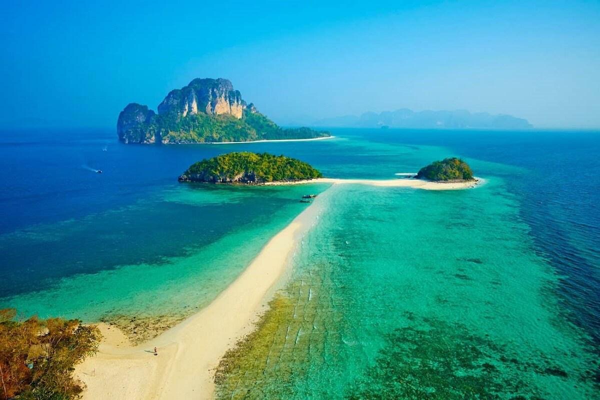 Biển Krabi là địa điểm du lịch thái lan nỗi tiếng