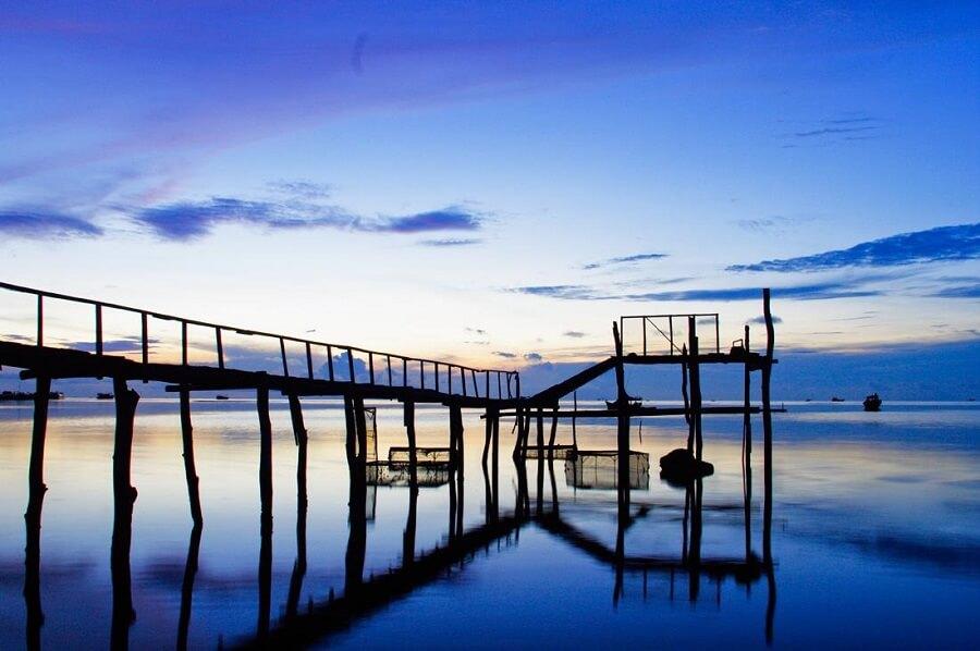 Làng chài cổ Hàm Ninh được mệnh danh là làng chài nỗi tiếng nhất Phú Quốc
