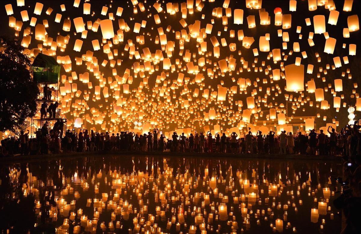 Lễ hội thả đèn trời tuyệt đẹp thu hút khách du lịch