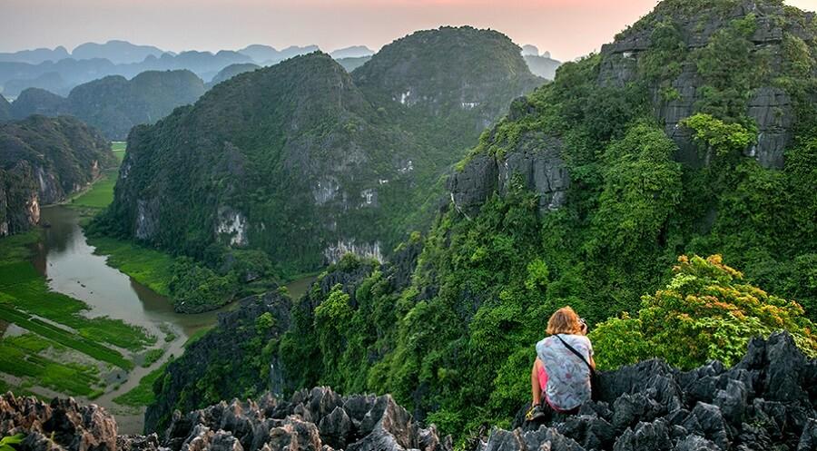 du lịch Ninh Bình luôn cho ta những phút giây cảm giác mạnh