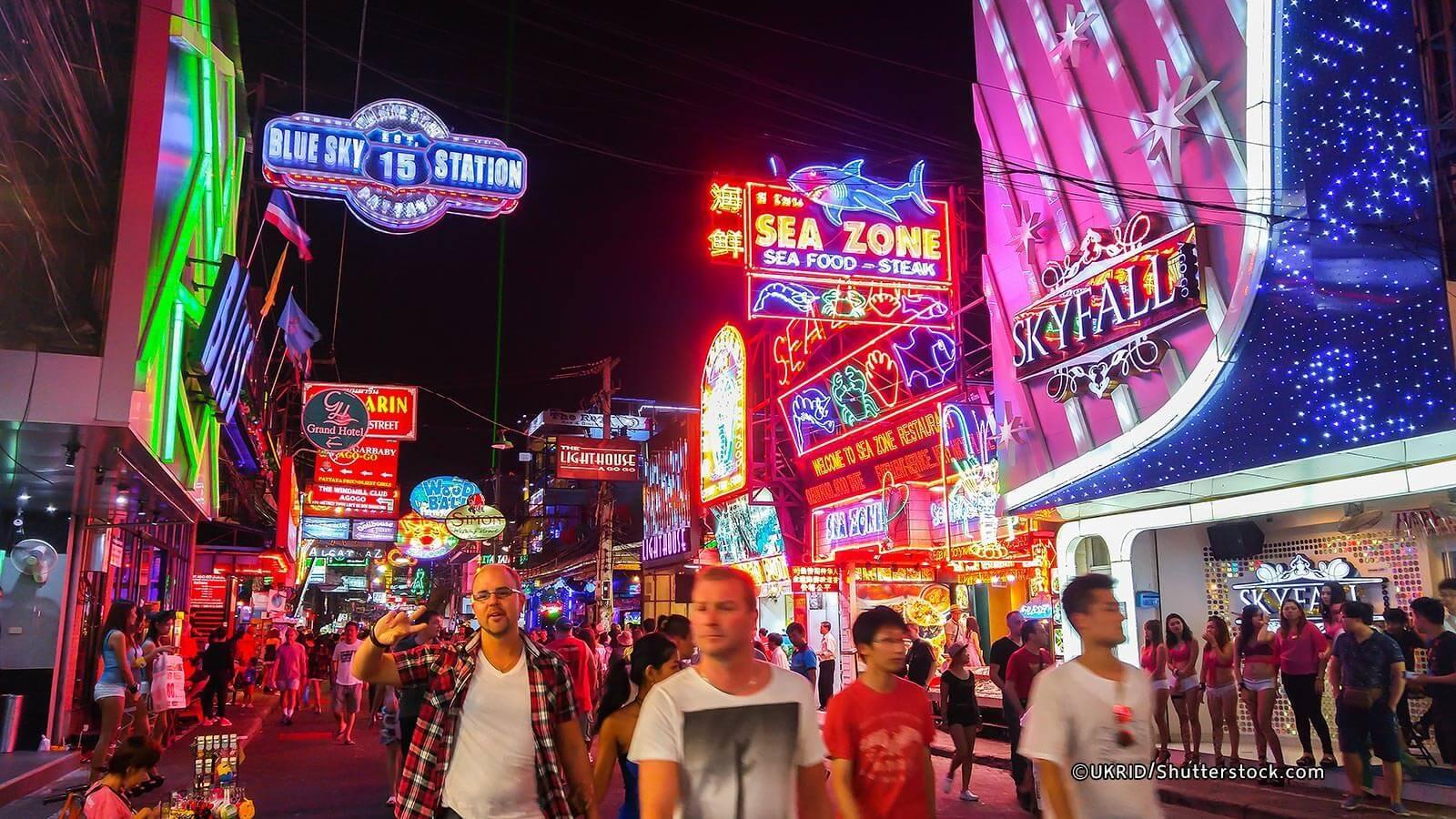 Pattaya sôi động về đêm của thái lan
