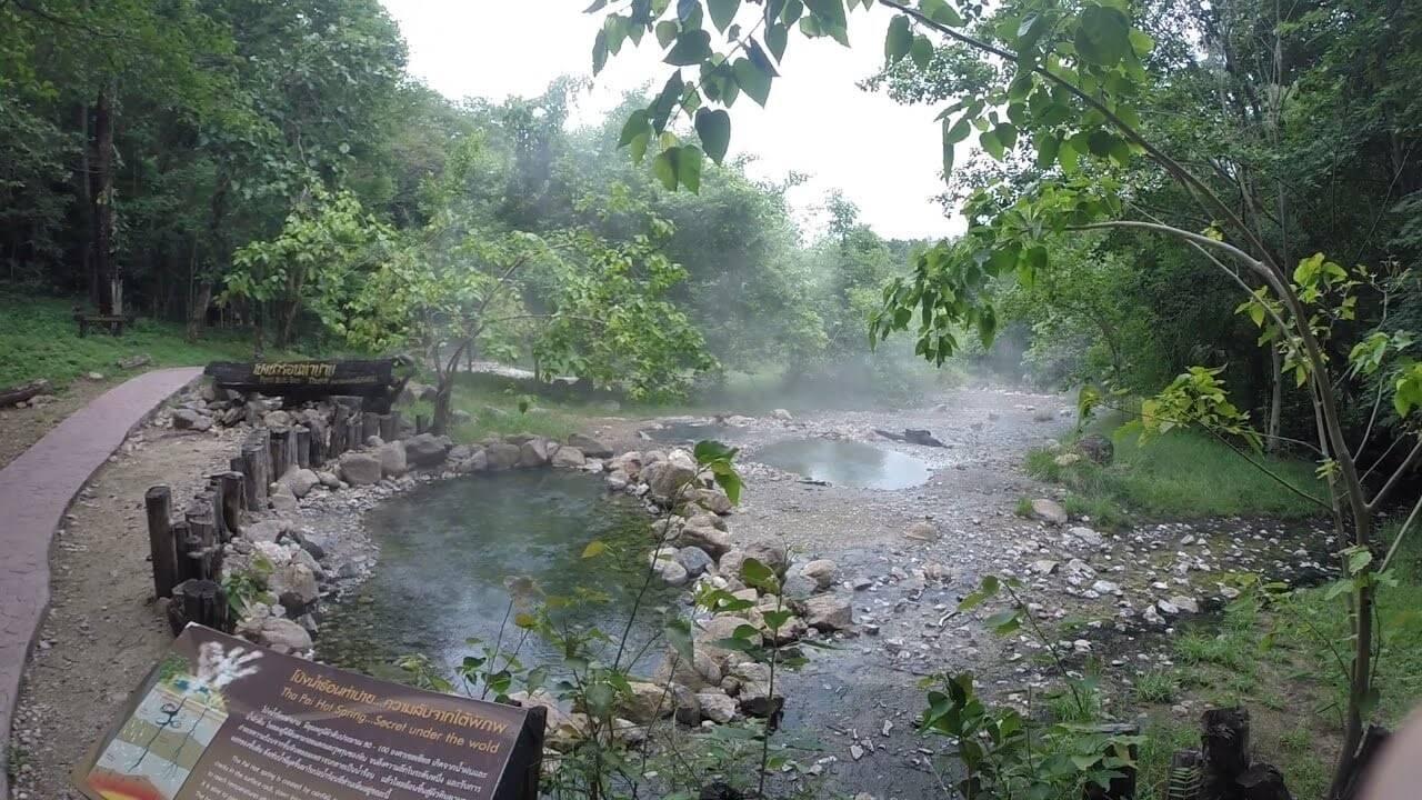 Tha Pai hotspring suối nước nóng du lich thai lan