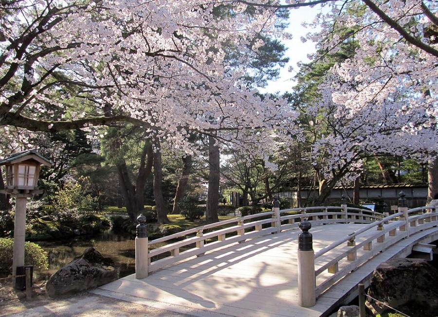 du lịch Nhật Bản có cảnh đẹp không thể bỏ qua là vườn kenrokuen