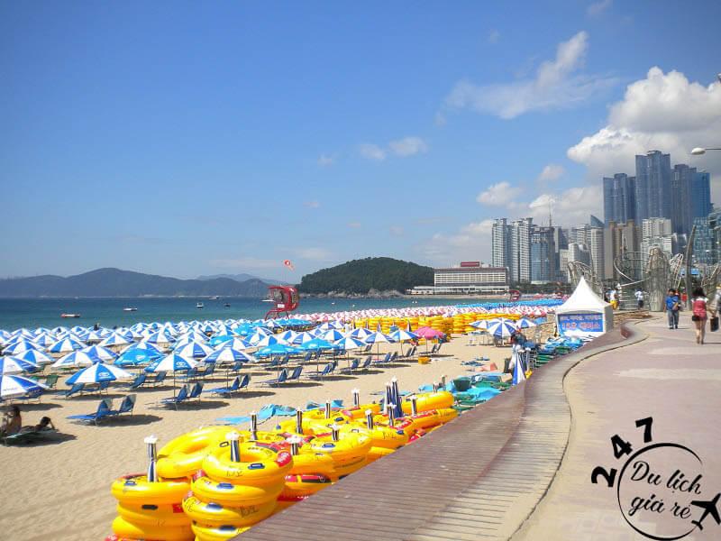 Bãi biển Busan Beach tuyệt đẹp Tour du lịch Hàn Quốc, du lịch Hàn Quốc Giá Rẻ, Xin visa Hà Quốc, Du lịch Hàn Quốc Ăn Gì,
