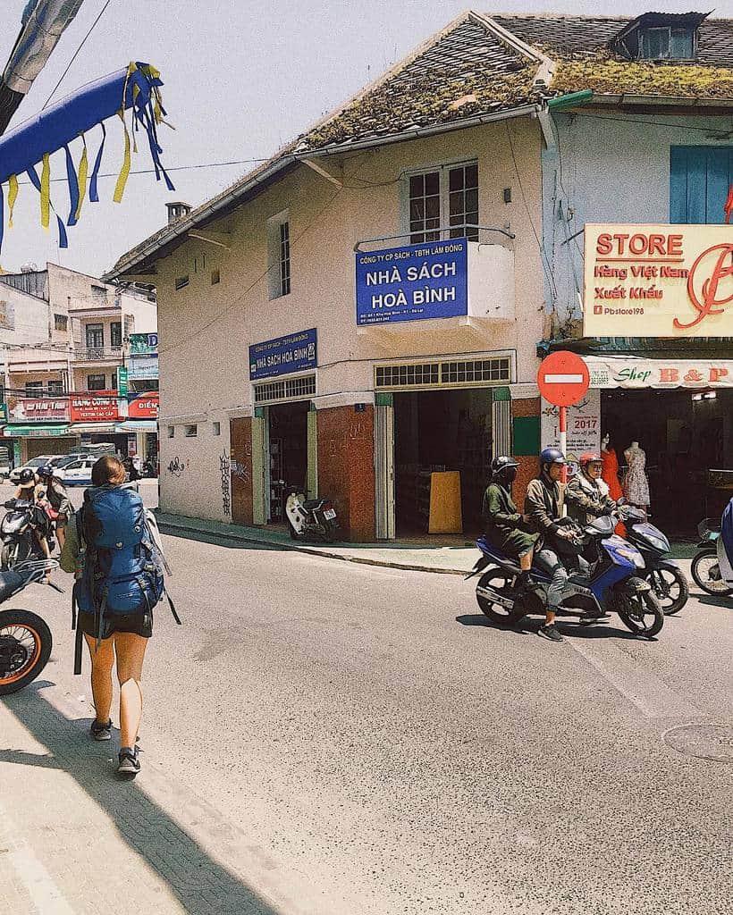 Khu Hòa Bình bây giờ nằm trong những tuyến đường làm phố đi bộ ở Đà Lạt